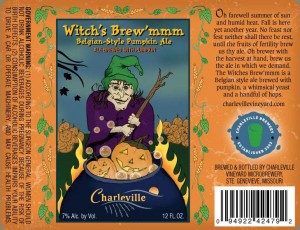 Pumpkin Beer label 12oz